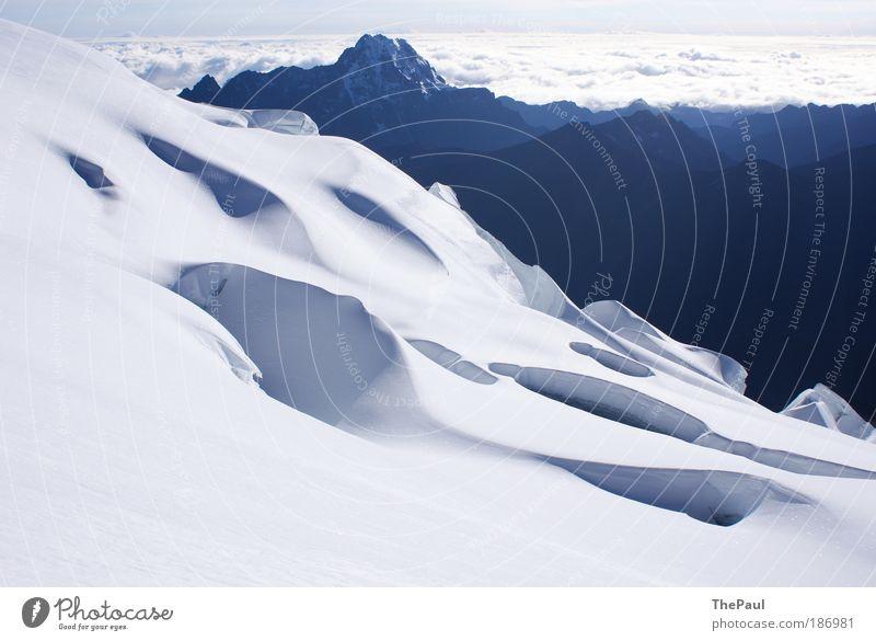 Eiswüste Natur Landschaft Schönes Wetter Berge u. Gebirge Anden frisch blau weiß Bolivia Huayna Potosi Bersteigen Schnee Schneelandschaft Farbfoto