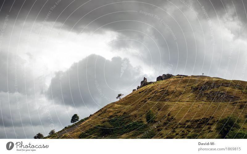 Fotograf mit Stativ Mensch Natur Ferien & Urlaub & Reisen Jugendliche Mann schön Junger Mann Landschaft Wolken Ferne Berge u. Gebirge Erwachsene Umwelt Leben