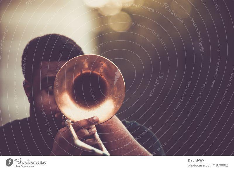 Leidenschaft elegant Freude Leben Freizeit & Hobby Spielen Student Mensch maskulin Mann Erwachsene Jugendliche Gesicht 1 Kunst Künstler Musik Musik hören