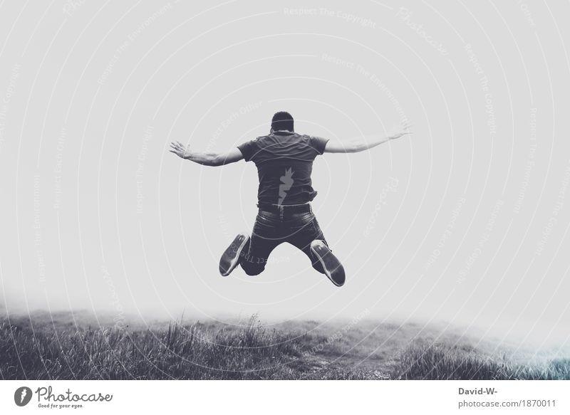 fliegen Teil 2 Lifestyle Leben harmonisch Zufriedenheit ruhig Meditation Freizeit & Hobby Spielen Ferien & Urlaub & Reisen Mensch maskulin Junger Mann