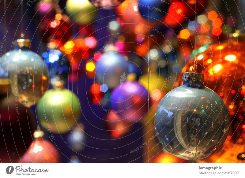 Kugelbunt II Weihnachten & Advent mehrfarbig rund Kunst Glas Weihnachtsbaum Dekoration & Verzierung Kugel Kreativität Christbaumkugel Weihnachtsdekoration knallig Glaskugel kugelrund