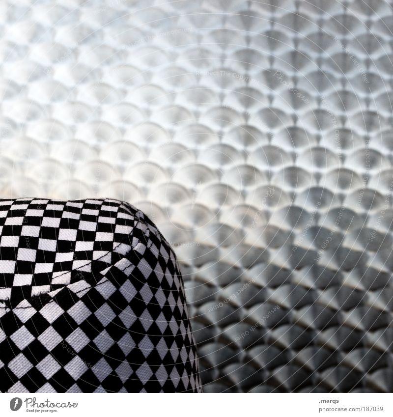 Transition Mensch weiß schwarz Metall glänzend Design Schwarzweißfoto einzigartig außergewöhnlich Muster Bekleidung leuchten Hut Grafik u. Illustration trendy