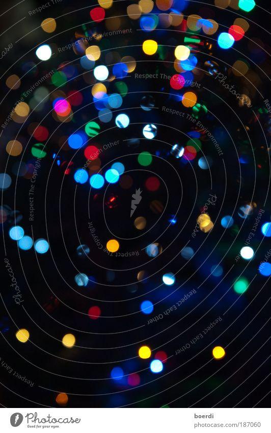 lIchtkonfetti Natur Weihnachten & Advent blau rot gelb Lampe Stern mehrfarbig Stimmung Beleuchtung Feste & Feiern glänzend Denken Unschärfe Ordnung Licht