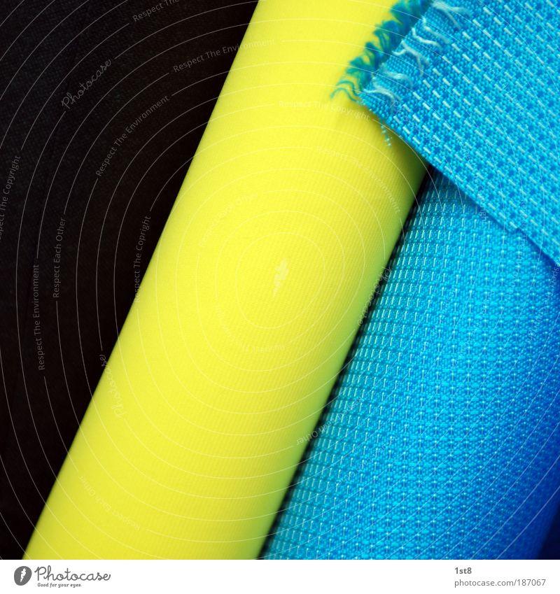 der stoff aus dem die träume sind blau schwarz gelb Mode Design ästhetisch neu Zukunft Technik & Technologie Wissenschaften Stoff Teppich Material Basteln Schere Fortschritt