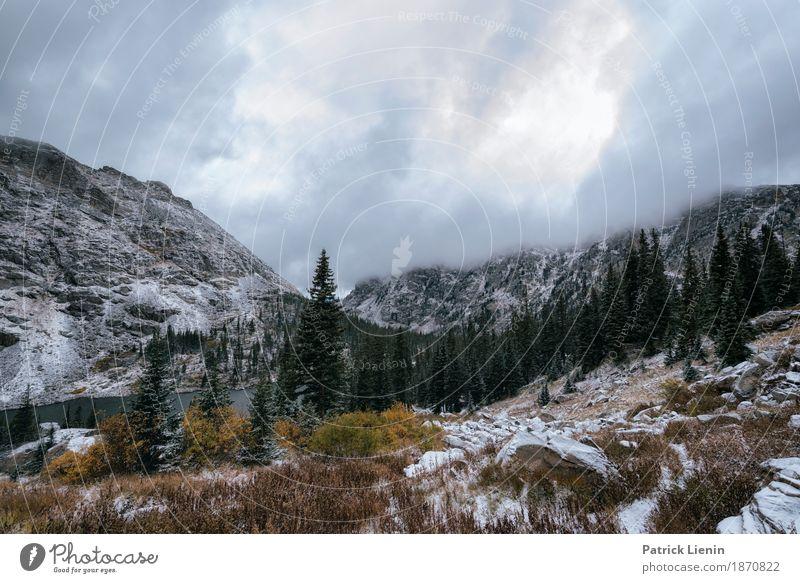 Winter is coming schön Ferien & Urlaub & Reisen Abenteuer Schnee Berge u. Gebirge wandern Umwelt Natur Landschaft Urelemente Himmel Herbst Klima Klimawandel