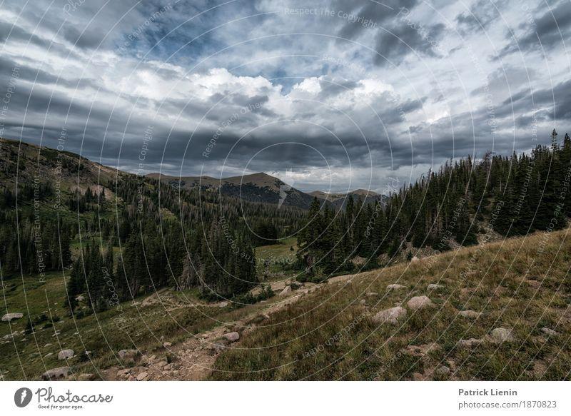 Rawah Wilderness schön Ferien & Urlaub & Reisen Abenteuer Berge u. Gebirge wandern Umwelt Natur Landschaft Himmel Wolken Gewitterwolken Sommer Klima Klimawandel