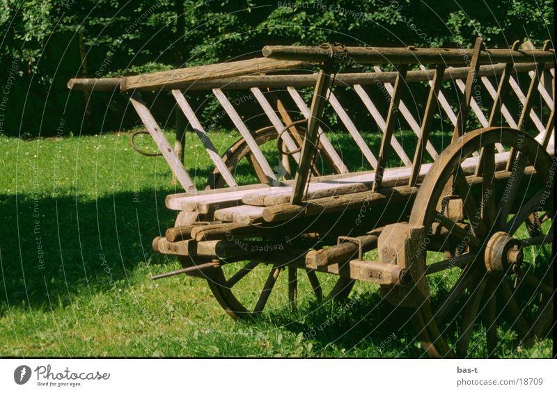 Alter Karren Holz Verkehr Pferd Western Gefolgsleute