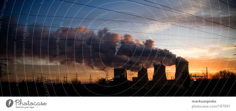 dreckschleuder Natur Winter Arbeit & Erwerbstätigkeit Ruhrgebiet Landschaft Luft Umwelt Industrie Energiewirtschaft Zukunft Elektrizität Fabrik Klima
