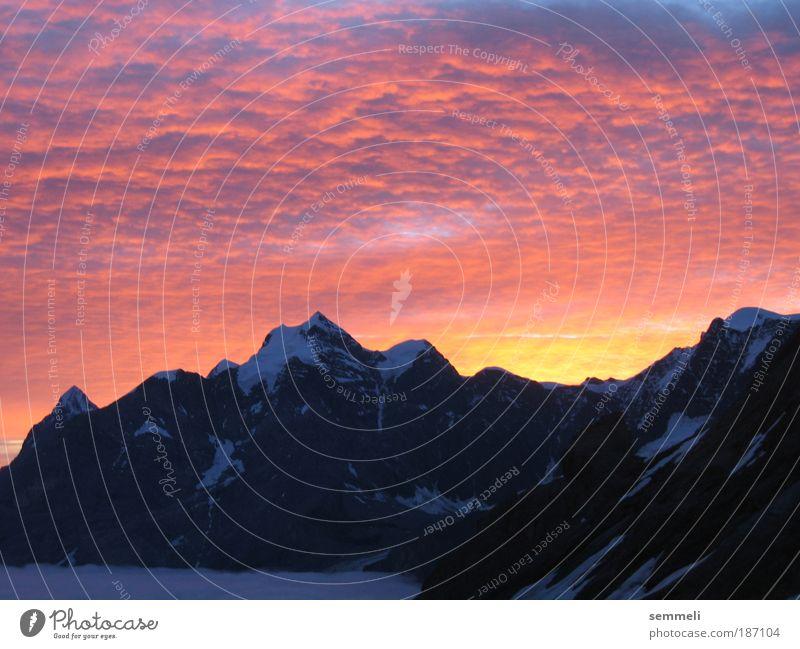 3000m über Meer Himmel Natur Ferien & Urlaub & Reisen Wolken Winter Berge u. Gebirge Landschaft Umwelt Felsen Feuer Urelemente Hügel Alpen Sonnenstrahlen Gipfel