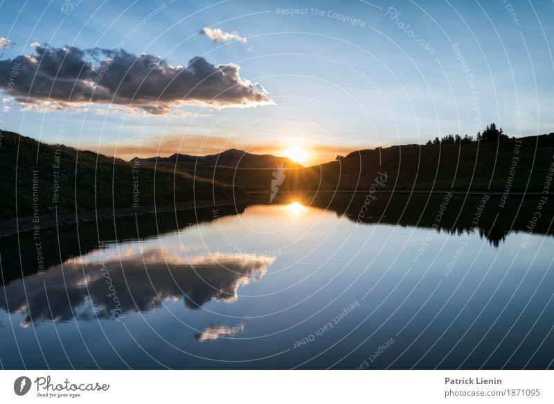 Sand Lake schön Ferien & Urlaub & Reisen Ausflug Abenteuer Ferne Freiheit Sommer Sonne Berge u. Gebirge wandern Spiegel Umwelt Natur Landschaft Urelemente