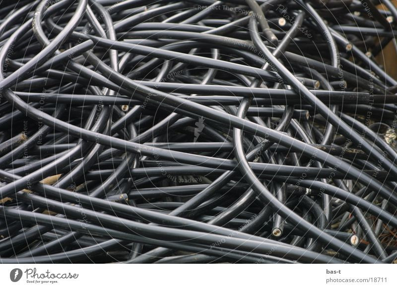 Kabelsalat Industrie Kabel durcheinander Leitung Kabelsalat
