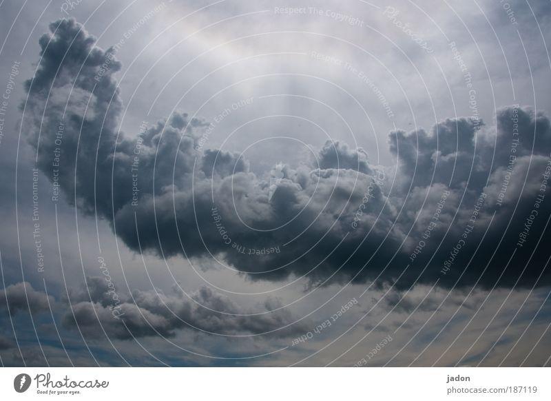 kuschelwölkchen Himmel Wolken Regen Angst Wetter bedrohlich außergewöhnlich Skulptur Urelemente Formation schlechtes Wetter gigantisch Gewitterwolken Dampfbad