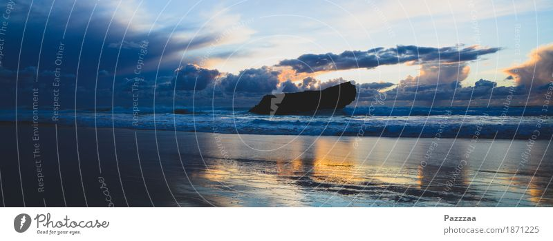 Praia do Tonel Natur Wolken Gewitterwolken Felsen Wellen Strand Bucht bedrohlich schön wild Portugal Atlantik Algarve Farbfoto Außenaufnahme Menschenleer Abend
