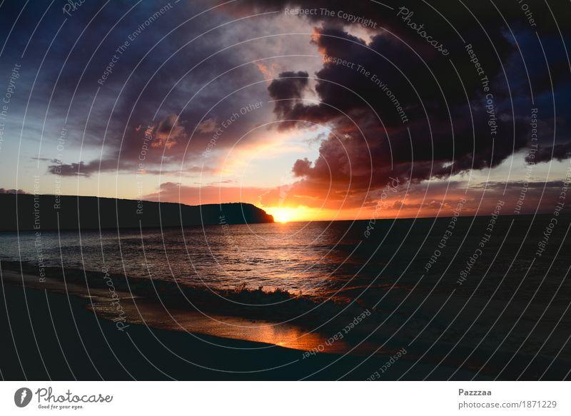 Küstenmmorgen Natur Urelemente Sonne Sonnenlicht Wellen Bucht leuchten Wärme Hoffnung Glaube Sehnsucht Portugal Algarve Farbfoto Außenaufnahme