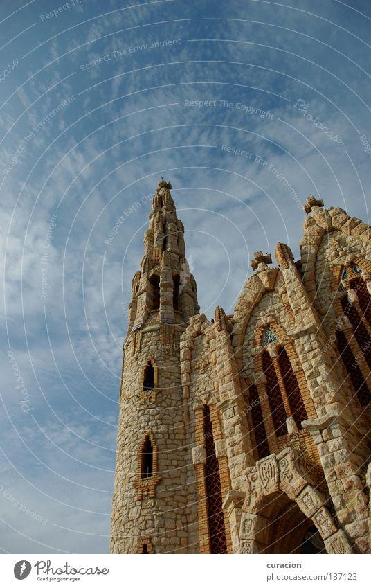 Santuario de Santa María Magdalena Zufriedenheit Sinnesorgane Trauerfeier Beerdigung Skulptur Inspiration Himmel Wolken Novelda Alicante Valencia Spanien Europa