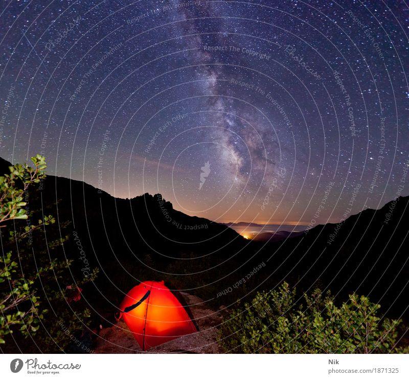 GR20 Refuge d'Asinao sportlich Freizeit & Hobby Trekking Außenaufnahme Bergsteigen Camping Ferien & Urlaub & Reisen Tourismus Abenteuer Ferne Freiheit