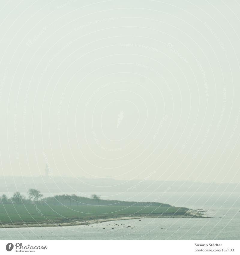 fern. Tourismus Ausflug Ferne Kreuzfahrt Sommer Meer Wellen Natur Landschaft Wetter Schönes Wetter Wiese Küste Strand Bucht Ostsee Insel Fischerdorf Turm