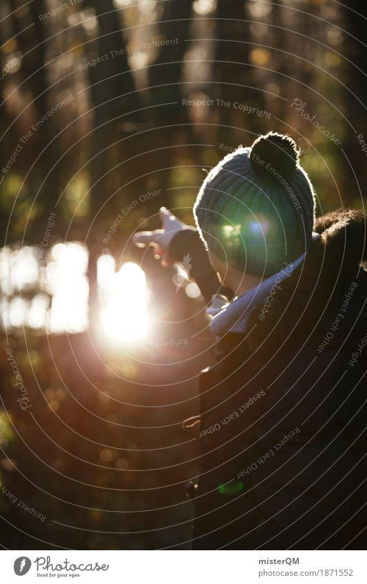 Ostsee IV Kunst ästhetisch Wald See zeigen Außenaufnahme Winter Spaziergang Spazierweg Mütze Mann Ferne entdecken Sonne kalt Idylle Winterurlaub Herbst