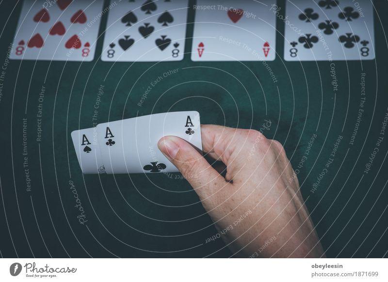 Karten, Glücksspiel, Hand Mensch Lifestyle Stil Kunst Abenteuer Geld Künstler sparen