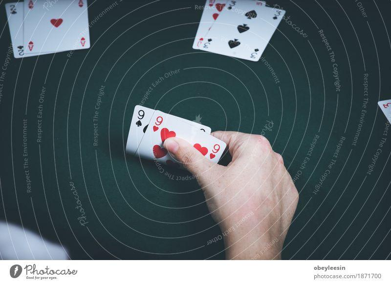 Karten, Glücksspiel, Hand Mensch Freude Lifestyle Stil Kunst Abenteuer Geld Künstler sparen
