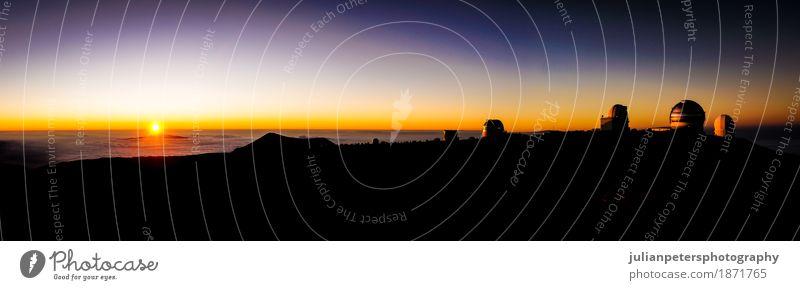 Sonnenuntergang von Mauna Kea Hawaii Ferien & Urlaub & Reisen Tourismus Meer Insel Berge u. Gebirge wandern Wissenschaften Natur Landschaft Himmel Wolken Felsen