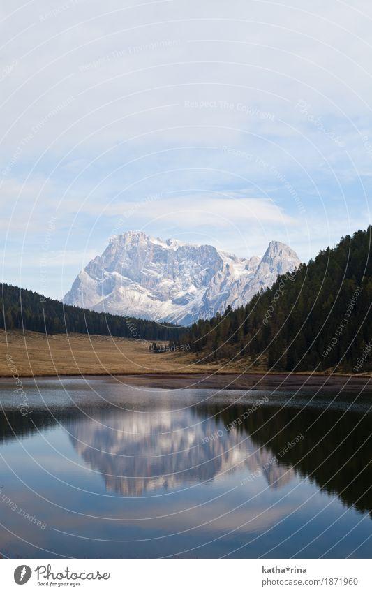 Lago di Calaita, Trentino, Dolomiten Landschaft Herbst Schönes Wetter Alpen Berge u. Gebirge Pale di San Martino Palagruppe Seeufer Abenteuer Einsamkeit