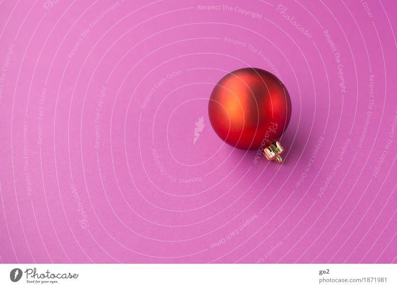 Weihnachtskugel Weihnachten & Advent Dekoration & Verzierung Kugel ästhetisch rund rosa rot Vorfreude Weihnachtsdekoration Weihnachtsgeschenk Farbfoto