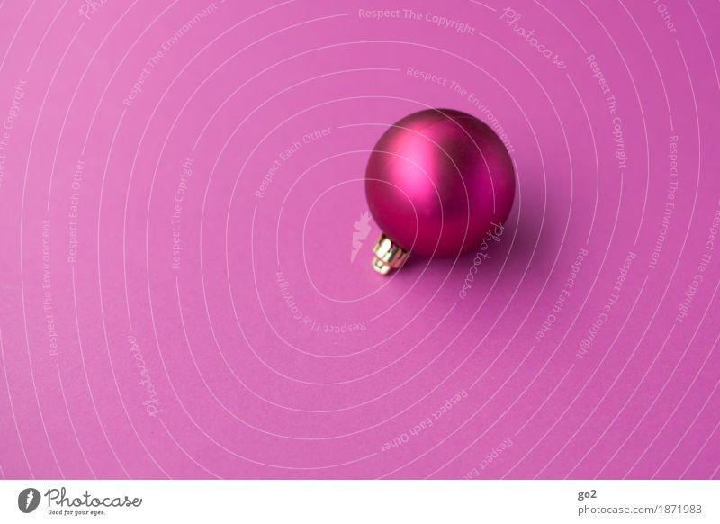 Weihnachtskugel Weihnachten & Advent Dekoration & Verzierung Kitsch Krimskrams Kugel ästhetisch rund violett rosa Vorfreude Weihnachtsdekoration