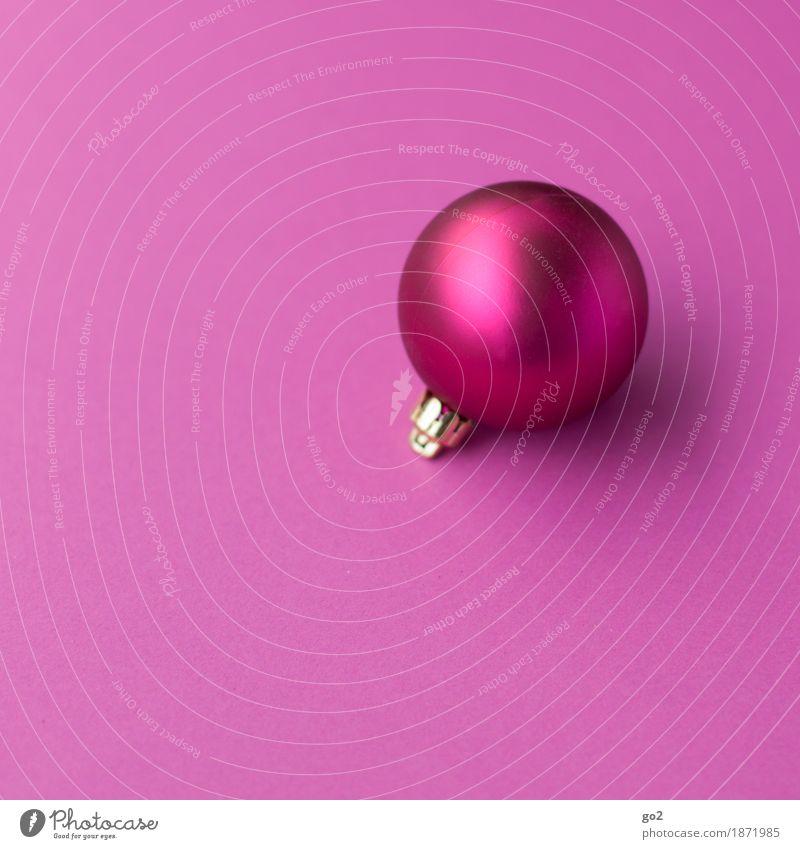 Pinke Weihnacht Weihnachten & Advent Dekoration & Verzierung Kugel ästhetisch rund violett rosa Vorfreude Weihnachtsdekoration Weihnachtsgeschenk