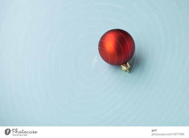 Rot auf Blau Weihnachten & Advent Dekoration & Verzierung Kitsch Krimskrams Kugel ästhetisch rund blau rot Vorfreude Weihnachtsgeschenk Weihnachtsdekoration