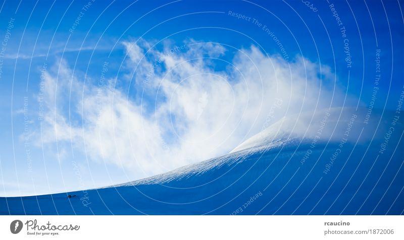 Hochgebirgslandschaft: Gletscher und Wolken Abenteuer Expedition Schnee Berge u. Gebirge Sport Klettern Bergsteigen Zeitung Zeitschrift Natur Landschaft Alpen