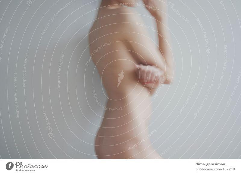 Mensch Frau Jugendliche weiß schön Erwachsene kalt feminin Erotik grau Junge Frau Luft Gesundheit Körper 18-30 Jahre Haut
