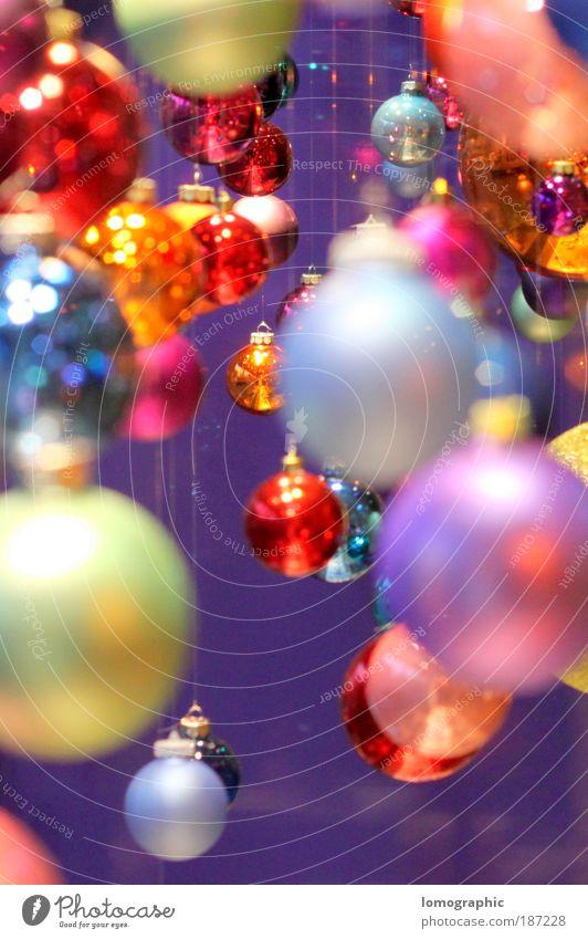 Kugelbunt III Weihnachten & Advent Stil Design elegant Lifestyle Reflexion & Spiegelung rund Kitsch Dekoration & Verzierung leuchten Christbaumkugel