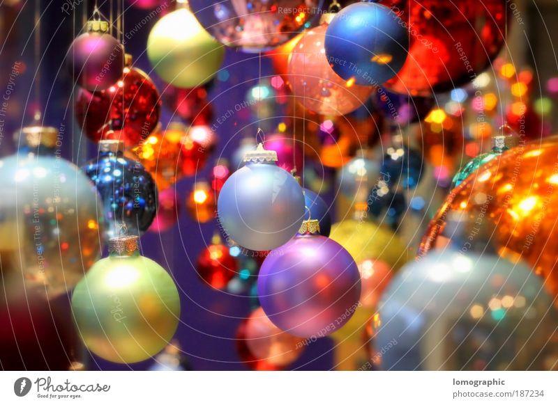 Kugelbunt IV Lifestyle elegant Stil Design Kunst Ausstellung Glas glänzend rund mehrfarbig Weihnachten & Advent Weihnachtsdekoration Christbaumkugel Glaskugel