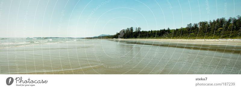 Weitspüler Ferne Freiheit Sommer Sommerurlaub Sonne Strand Meer Wellen Landschaft Schönes Wetter Küste Unendlichkeit ruhig Einsamkeit Erholung