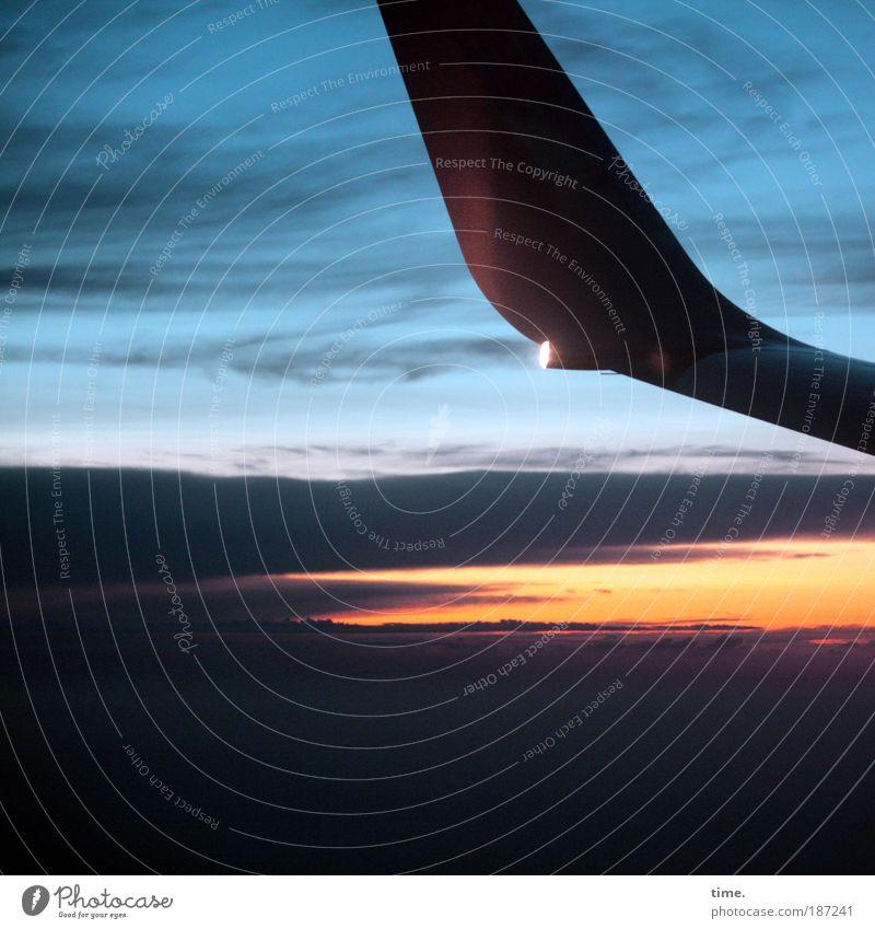 Riders On The Storm Himmel Wolken Ferne Farbe Leben Freiheit Himmel (Jenseits) Luft Erde Flugzeug fliegen Luftverkehr Verkehrszeichen Vergänglichkeit Unendlichkeit Tragfläche