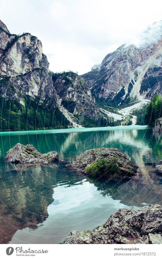pragser wildsee Natur Ferien & Urlaub & Reisen Sommer Erholung ruhig Ferne Berge u. Gebirge Umwelt Gesundheit außergewöhnlich Freiheit Felsen Tourismus
