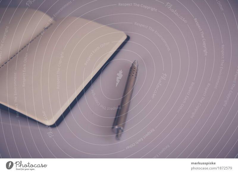 notizbuch mit stift Büro Notebook Gefühle Business Kommunizieren träumen analog author black pencils clean coffee concept cup cup of coffee empty handwriting