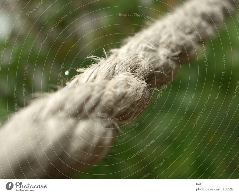 Festhalteseil Seil festhalten Schnur Tiefenschärfe quer