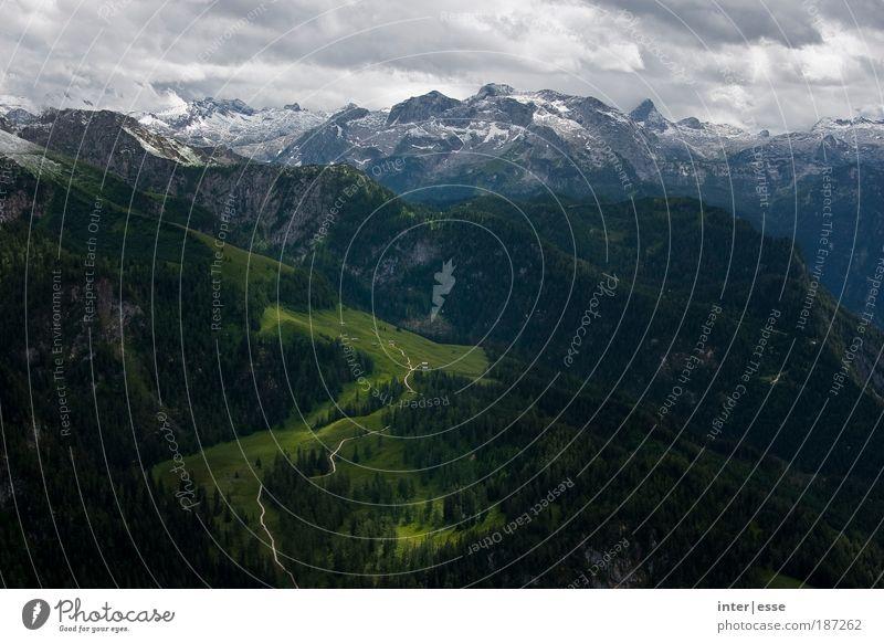 Sommerschnee Himmel Natur Pflanze Wolken Einsamkeit Leben kalt Schnee Berge u. Gebirge Landschaft Umwelt Stimmung Wetter Felsen groß