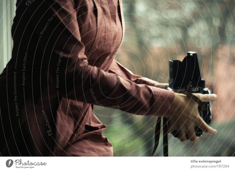 analoger Fotospaß Frau Mensch Erwachsene feminin ästhetisch Hoffnung einzigartig beobachten festhalten Neugier Fotokamera 18-30 Jahre entdecken Tradition