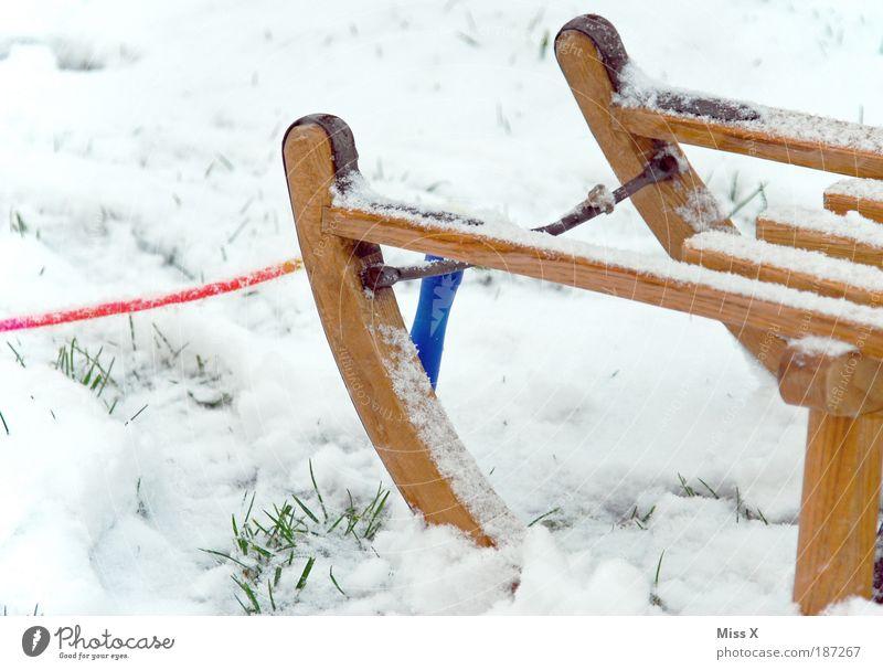 gezuckert Winter Freude kalt Schnee Spielen Garten Eis Wetter Kindheit Freizeit & Hobby Ausflug frisch Frost einfach Schönes Wetter Nostalgie