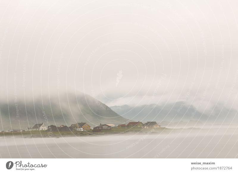 Himmel Natur Ferien & Urlaub & Reisen Sommer Meer Landschaft Wolken Haus Ferne Strand Berge u. Gebirge Lifestyle natürlich Küste Freiheit Tourismus