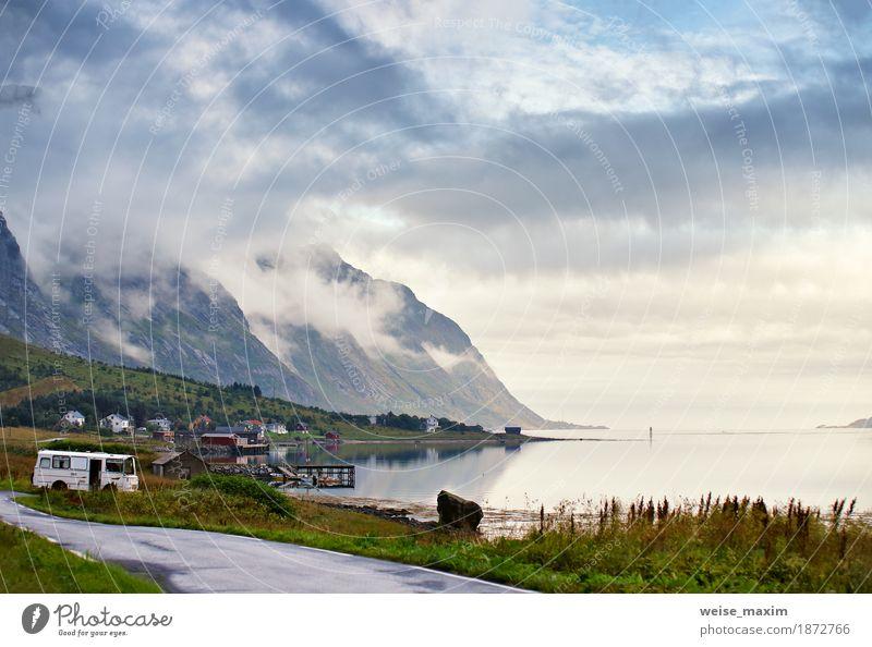 Himmel Natur Ferien & Urlaub & Reisen blau Sommer Meer Landschaft Wolken Haus Strand Berge u. Gebirge Straße Wiese Lifestyle Küste Freiheit