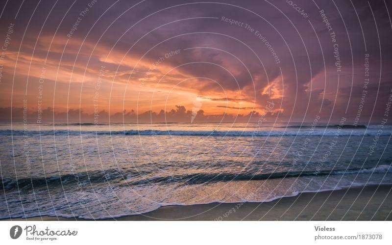 noch mehr meer Himmel Ferien & Urlaub & Reisen Sommer schön Landschaft Meer Erholung Wolken ruhig Ferne Strand Küste Tourismus orange Horizont Zufriedenheit