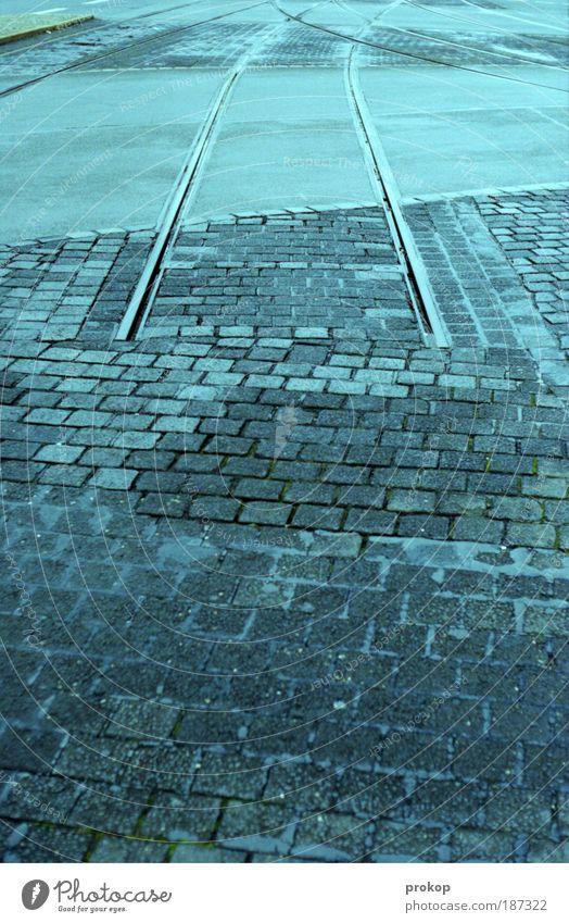 Endstation. Alles aussteigen. kalt Verkehr Ende Gleise Straßenverkehr Verkehrsmittel S-Bahn Missgeschick Bahnfahren Öffentlicher Personennahverkehr