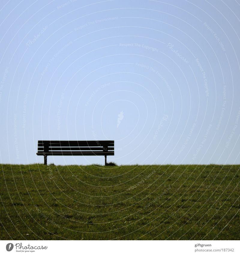 ostfriesisches bankwesen Wohlgefühl Zufriedenheit Ferien & Urlaub & Reisen Ferne Sommer Gras Wiese Küste Nordsee Erholung blau grün Lebensfreude Pause ruhig