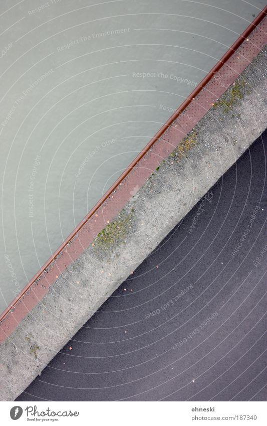 Waterkant Wasser Straße grau Wege & Pfade Küste Verkehr Verkehrswege Schifffahrt Autofahren Kanal Verkehrsmittel Wasserstraße Binnenschifffahrt