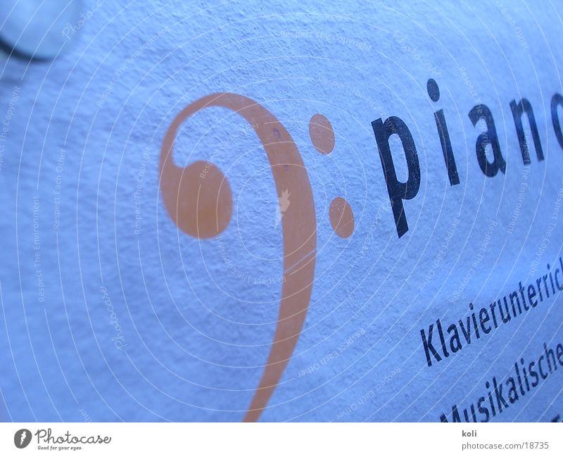 Piano Schild Wand Notenschlüssel Acryl Konzert Musik Klavier Schilder & Markierungen Kontrabass