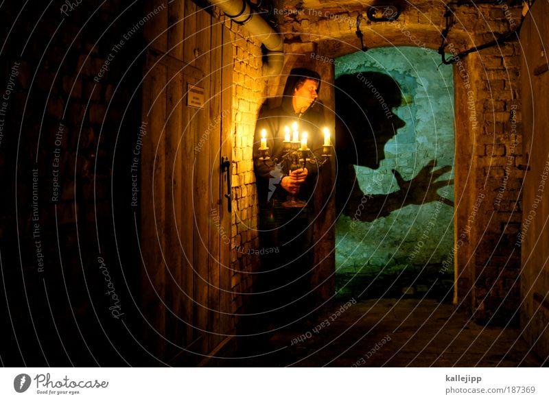 in the dungeon Freizeit & Hobby Häusliches Leben Wohnung Haus Keller Mensch Gesicht 1 schreien Aggression dunkel Ekel gruselig hässlich kaputt Angst Entsetzen